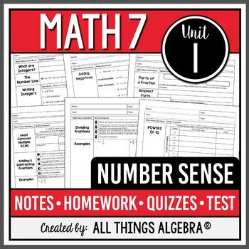 Number Sense (Math 7 Curriculum – Unit 1)
