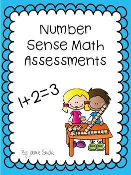 Number Sense Math Assessments