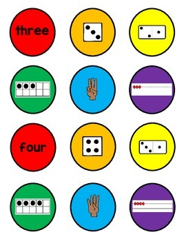 Number Sense Math Center (1-10)