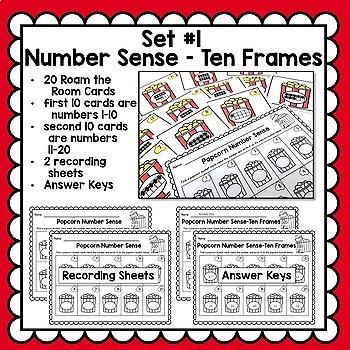 Number Sense Math Center Activities