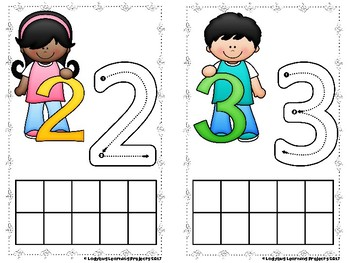 Number Sense Math Center Cards for Numbers 0-20