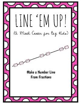 Number Sense Math Center, Fraction Number Line