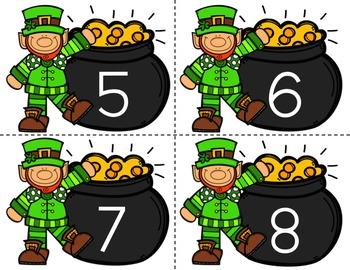 Math Center: Number Sense, St. Patrick's Day Number Sort, 0-20