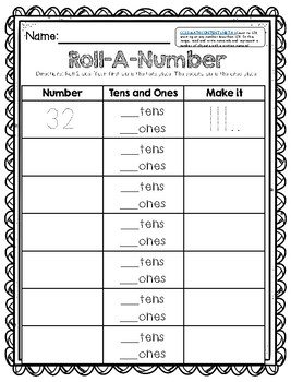 Number Sense Math Centers and Activities Bundle (for 100 and 120 charts)