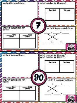 Number Sense Math Challenge Cards