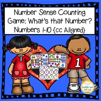 Number Sense Counting Game for Numbers 1-10 for Pre-K or Kindergarten