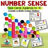 Number Sense | Math Cubes | Unifix Cube Trains | Task Cards