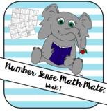 Number Sense Math Mat Week 1