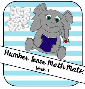 Number Sense Math Mat Week 3