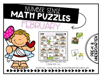 February Number Sense Math Puzzles