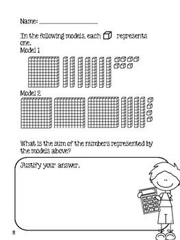 Number Sense Math Review - Grade 3 (Task Cards & Short Answer)