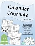 Number Sense Math Spiral - Calendar Journals - January 2019