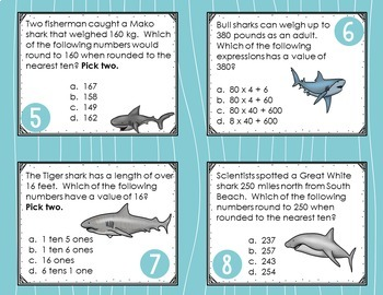 Shark Week Math Task Cards {Shark Shenanigans!}