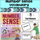 Number Sense Math Vocabulary Cards, Math Games and, Easel