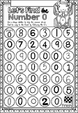 Number Sense Mazes 1 to 10 Worksheets in NSW Foundation Font for Kindergarten