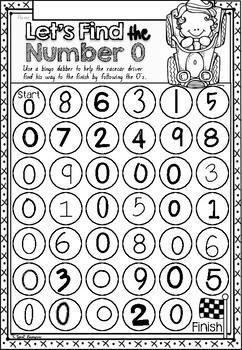Number Sense Mazes 1 to 10 Worksheets in NSW Foundation Font for  Kindergarten