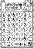Number Sense Mazes 1 to 10 in Queensland Beginners Font for Kindergarten