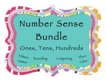 Rounding, Comparing, Place Value: 15 Game Mega Bundle - Ones, Tens, Hundreds