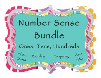 Rounding, Comparing, Place Value: 15 Game Mega Bundle - Ones, Tens, Hundreds