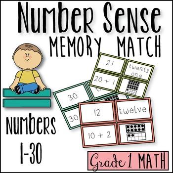 Number Sense Memory Match! (K-2)