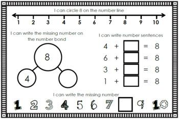 Number Sense Mini Book - Number Eight