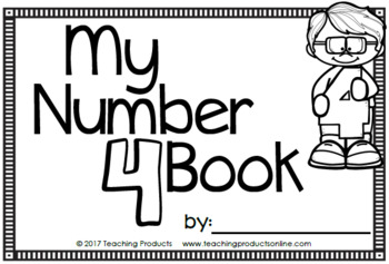 Number Sense Mini Book - Number Four