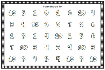 Number Sense Mini Book - Number Ten