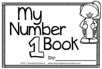 Number Sense Mini Book - Number One