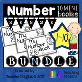 Number Sense Mini Books - Numbers 1-10 Bundle