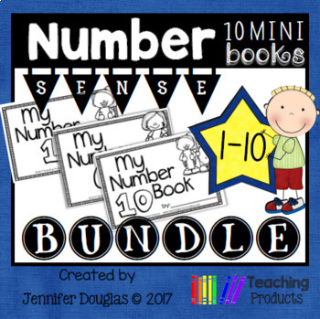 Number Sense Mini Books Numbers 1-10