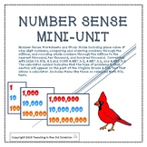 Number Sense Mini-Unit with Place Value up to 9 digits, co