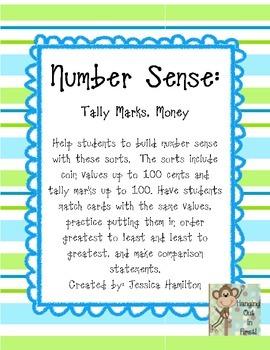 Number Sense: Money, Tally Marks