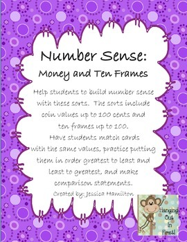 Number Sense: Money, Ten Frames