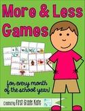 Number Sense: More & Less Games
