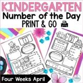Number Sense Morning Work Number of the Day Kindergarten April