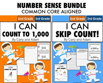 Counting to 1,000 and Skip Counting Number Sense Bundle