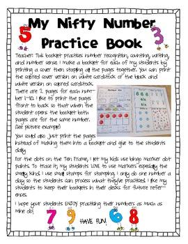 Number Sense: My Nifty Number Practice Book-D'Nealian version