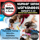 Number Sense Worksheets 1-10