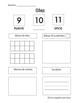 Number Sense - Number 10 (Eng & Span)