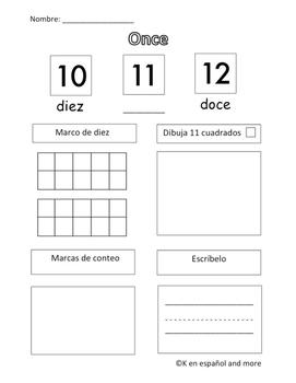 Number Sense - Number 11 (Eng & Span)