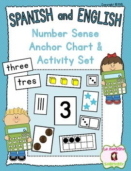 Number Sense: Number Anchor Chart and Activity Set (Spanish and English)