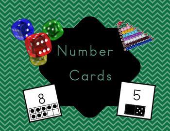 Number Sense Number Cards