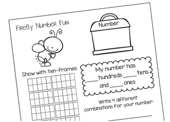 Number Sense: Number Cards to 120, Firefly Fun w/Activities