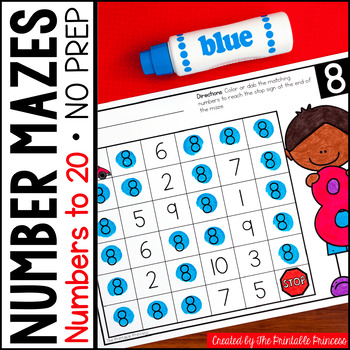 Number Identification {Number Mazes}