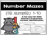 Number Sense: Number Mazes for 1-10