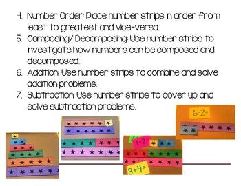 Number Sense: Number Strips 0-20 (Printable Math Manipulatives)