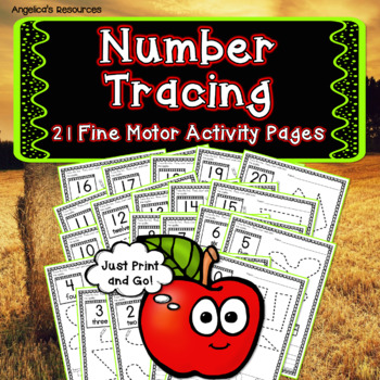 Number Sense: Number Tracing - Counting Activities - Apple Theme - Ten Frames
