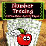 Back to School Activities : Apple Theme Number Tracing - Fine Motor Skills