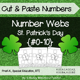 Number Sense: Number Webs 0-10 Cut & Paste - St. Patrick's Day Shamrocks