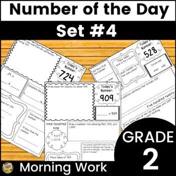 Number Sense - Number of the Day! Set #4 - Computation, Ar